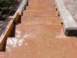 Okanagan Concrete Specialists stamped stairs