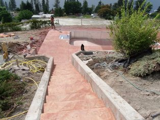 Okanagan Concrete Specialists stamped-stairway-to-pool