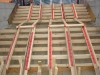 Concrete contractors finishing stair-pour-before